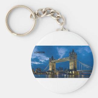 London--[kan.k].jpg Basic Round Button Key Ring