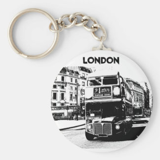 London keyring basic round button key ring