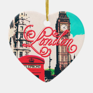 London Landmark Vintage Photo Christmas Ornament