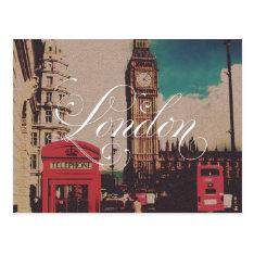 London Landmark Vintage Photo Postcard at Zazzle