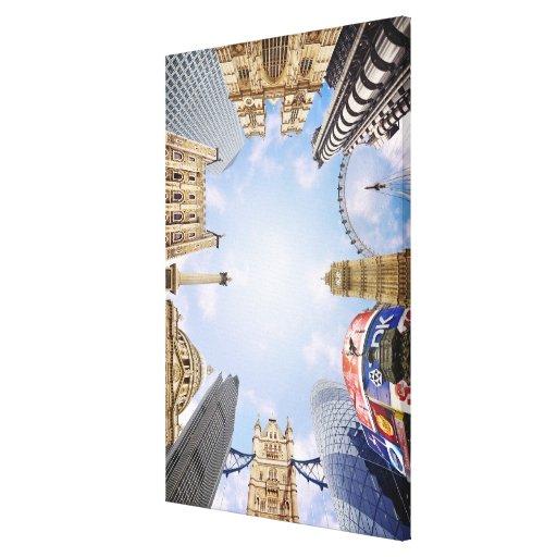 London Landmarks Stretched Canvas Prints