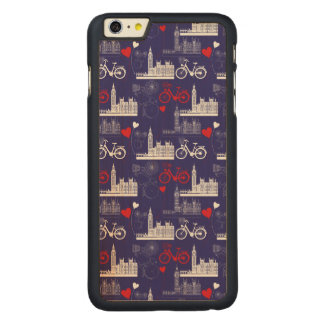 London Landmarks Pattern Carved® Maple iPhone 6 Plus Case