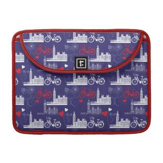 London Landmarks Pattern Sleeve For MacBook Pro