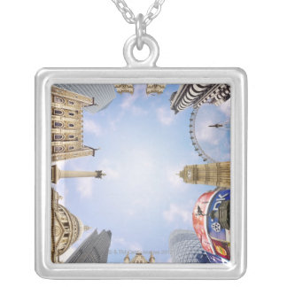 London Landmarks Silver Plated Necklace