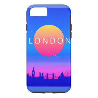 London Landmarks Travel Poster iPhone 8/7 Case