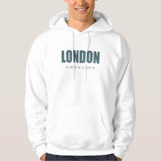London (latitude & longitude) hoodie
