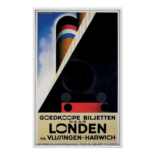 London / Londen - Vintage Ship Advertisement Posters