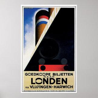 London Londen - Vintage Ship Advertisement Posters
