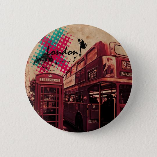 London love! 6 cm round badge
