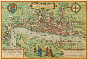 Map Of London 1600.Map Of London England Posters Prints Zazzle Uk