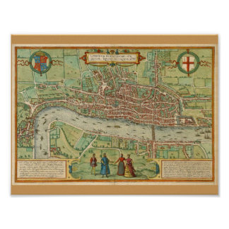 London Map 1600 Poster