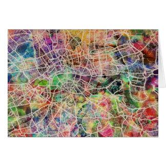 London Map Art Watercolour Greeting Cards