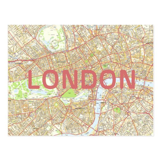 London map card postcard