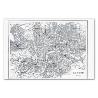 London Map Tissue Paper