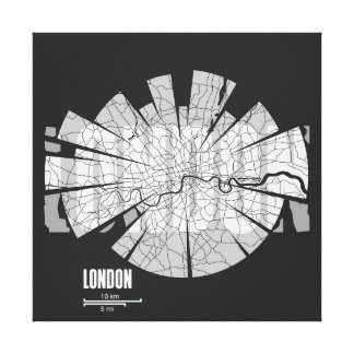 London Map Wrapped Canvas Gallery Wrap Canvas