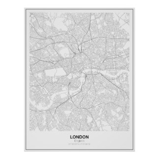 London Minimalist Map Poster (Style 2)