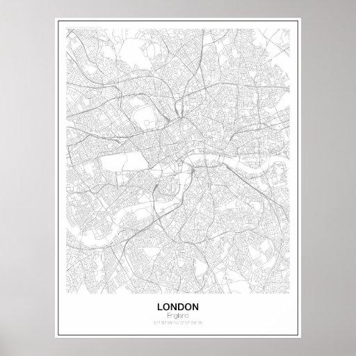 London Minimalist Map Poster (Style 2)