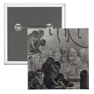 London' Monkeys 15 Cm Square Badge
