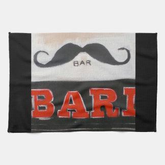 London Moustache Bar Tea Towel