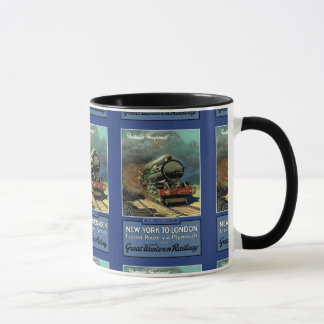 London  New York Great Western Railway Mug
