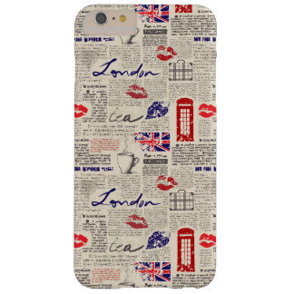 London Newspaper Pattern Barely There iPhone 6 Plus Case