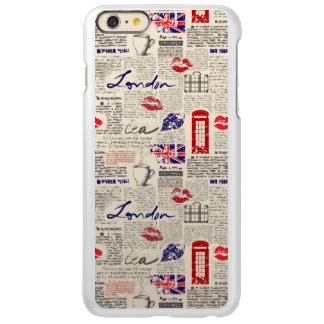 London Newspaper Pattern iPhone 6 Plus Case