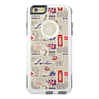 London Newspaper Pattern OtterBox iPhone 6/6s Plus Case