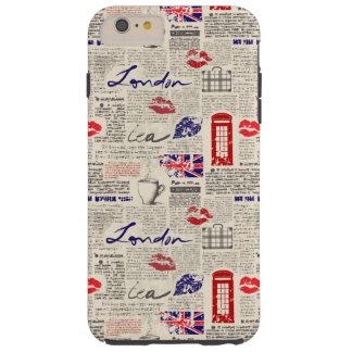 London Newspaper Pattern Tough iPhone 6 Plus Case