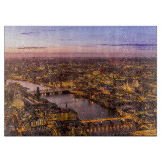 London night skyline cutting board