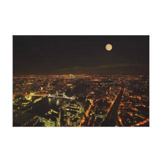 London night skyline stretched canvas print