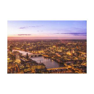 London night skyline stretched canvas prints