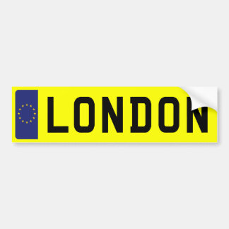 LONDON Number Plate Bumper Sticker