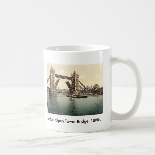 London Open Tower Bridge 1890's Coffee Mug