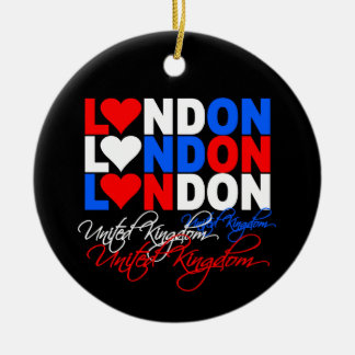 London ornamnet round ceramic decoration