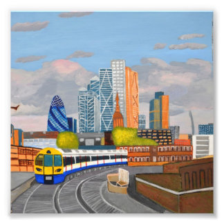 London Overland Train-hoxton Station Paper Poster