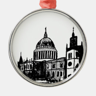 London painting Silver-Colored round decoration