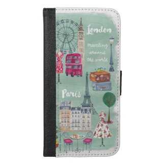 London Paris Girly Travel | Wallet Phone Case