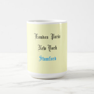 """London Paris New York"" Coffee Mug"