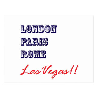 London Paris Rome, Las Vegas Postcard