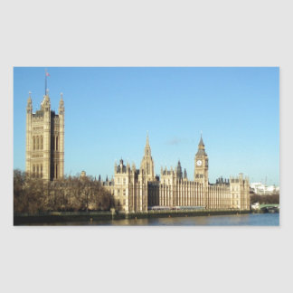 London Parliament and Big-Ben Rectangular Sticker