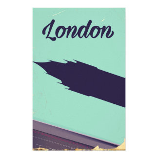 London Parliament Big ben vintage poster Stationery