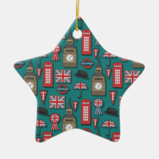 London pattern christmas ornament
