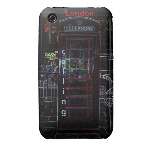 London Phone Booth 3/3gs Case Case-Mate iPhone 3 Case