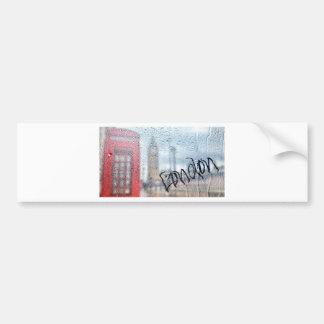 London Phone Booth Graffiti Bumper Sticker