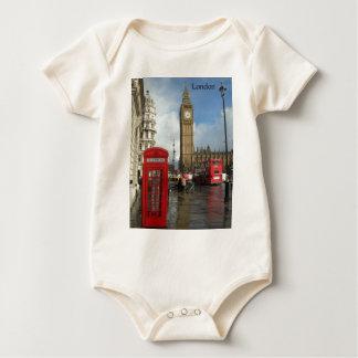 London Phone box & Big Ben (St.K) Baby Bodysuit