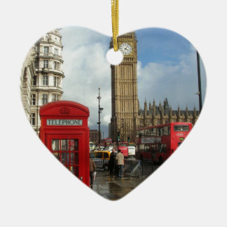 London Phone box & Big Ben (St.K) Christmas Ornament