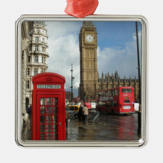 London Phone box & Big Ben (St.K) Christmas Ornament