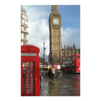 London Phone box & Big Ben (St.K) Personalized Stationery