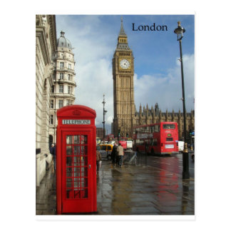 London Phone box & Big Ben (St.K) Postcard