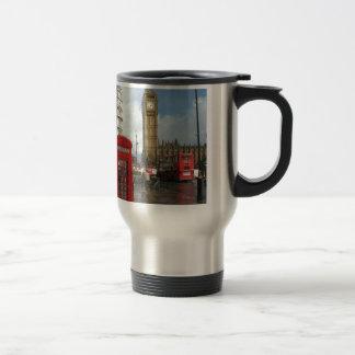 London Phone box & Big Ben (St.K) Stainless Steel Travel Mug